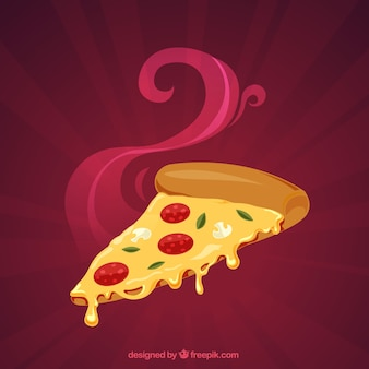 Sfondo di pizza sfamata