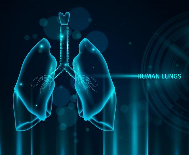 Sfondo di polmoni umani