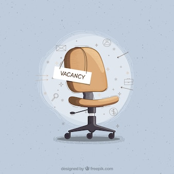 Sfondo di posti di lavoro vacanti con sedia