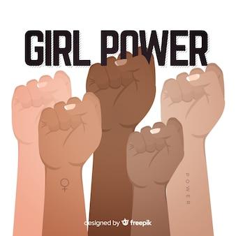 Sfondo di potenza ragazza