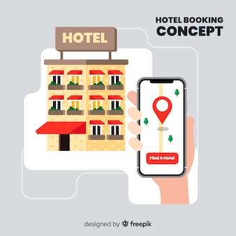 Sfondo di prenotazione hotel piatto
