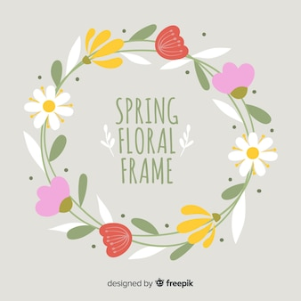 Sfondo di primavera cornice floreale