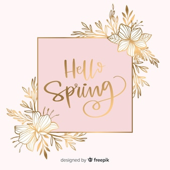 Sfondo di primavera d'oro