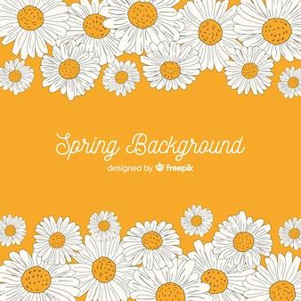 Sfondo di primavera disegnata a mano
