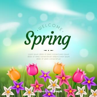 Sfondo di primavera realistico
