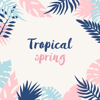 Sfondo di primavera tropicale