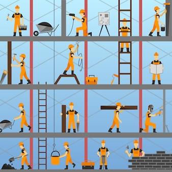 Sfondo di processo di costruzione