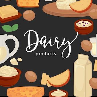 Sfondo di prodotti lattiero-caseari