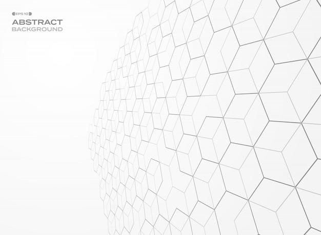 Sfondo di prospettiva geometrica modello pentagono.