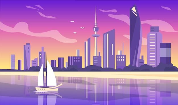 Sfondo di punti di riferimento della città per le videoconferenze
