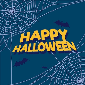 Sfondo di ragnatela di halloween design piatto