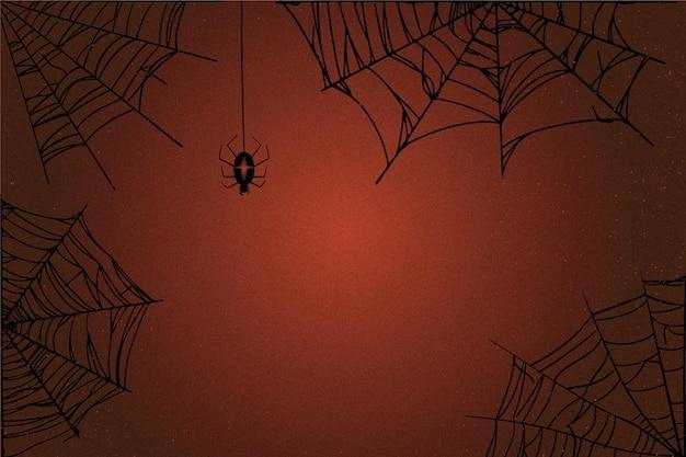Sfondo di ragnatela di halloween