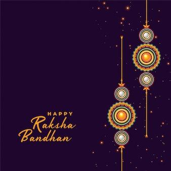 Sfondo di rakhi per il festival raksha bandhan
