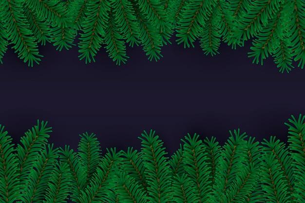 Sfondo di rami di albero di natale realistico