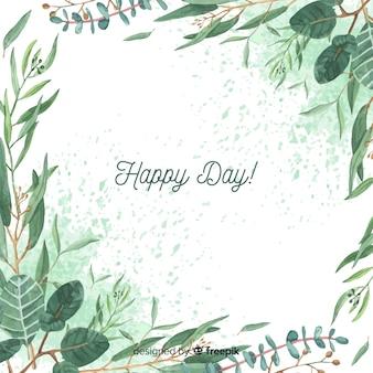 Sfondo di rami di eucalipto disegnati a mano