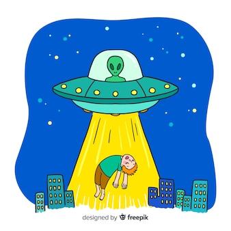 Sfondo di rapimento di fantascienza