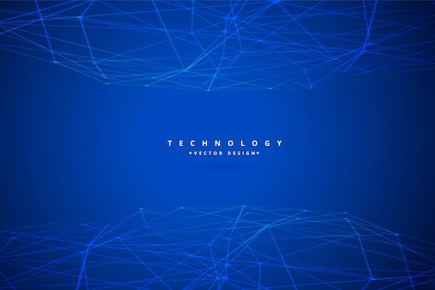 Sfondo di rete metallica di tecnologia digitale
