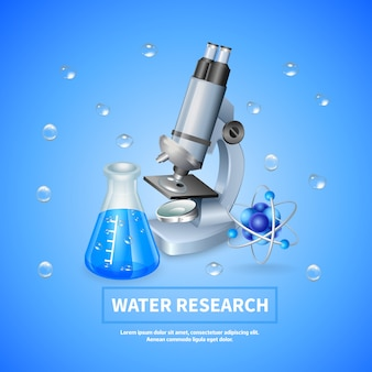 Sfondo di ricerca sull'acqua