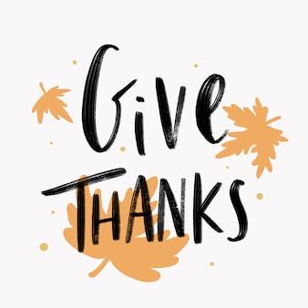 Sfondo di ringraziamento
