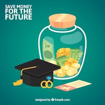 Sfondo di risparmio per il futuro