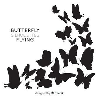 Sfondo di sagome di farfalle