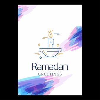 Sfondo di saluti di ramadan