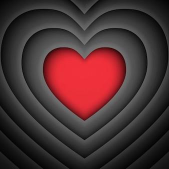 Sfondo di san valentino a forma di cuore retrò