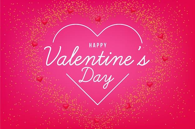 Sfondo di san valentino con cuore al neon