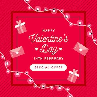 Sfondo di san valentino con offerta speciale