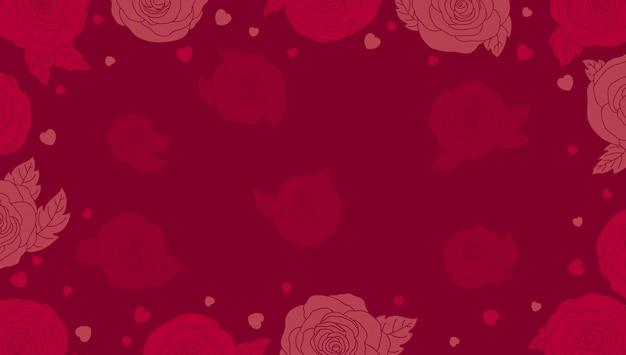 Sfondo di san valentino con rose