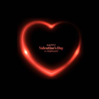 Sfondo di san valentino cuore incandescente