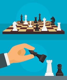 Sfondo di scacchi