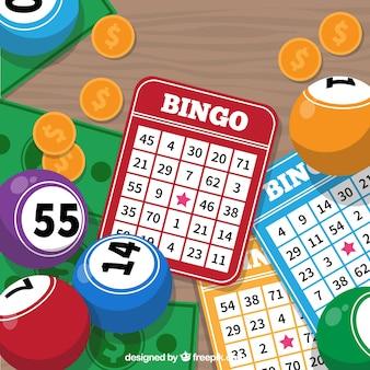 Sfondo di schede colorate di bingo
