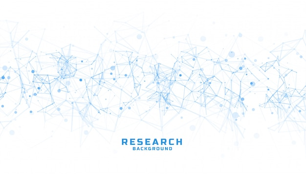 Sfondo di scienza e ricerca con linee astratte