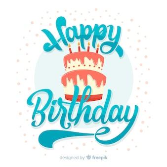 Sfondo di scritte creative di buon compleanno