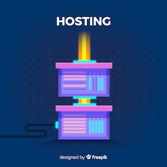 Sfondo di servizio di hosting piatto