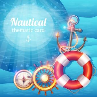 Sfondo di simboli marini