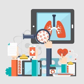 Sfondo di siti web di malattie respiratorie