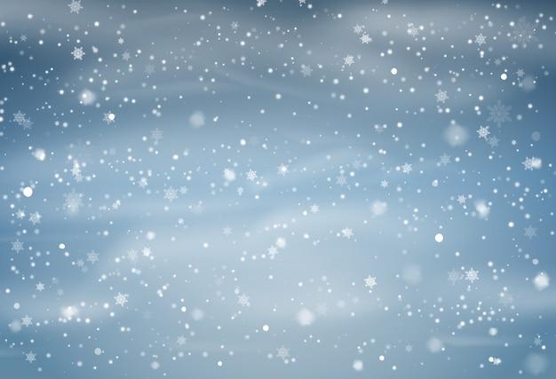 Sfondo di sovrapposizione di neve che cade