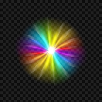 Sfondo di spettro dell'abbagliamento dell'arcobaleno.