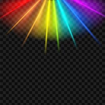 Sfondo di spettro di abbagliamento arcobaleno