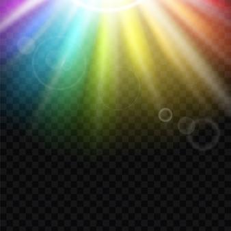 Sfondo di spettro di abbagliamento arcobaleno.
