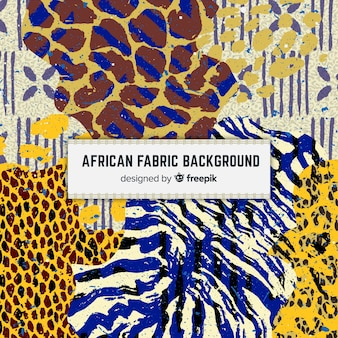 Sfondo di stampa tradizionale tessuto africano