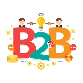 Sfondo di strategia di marketing b2b di successo