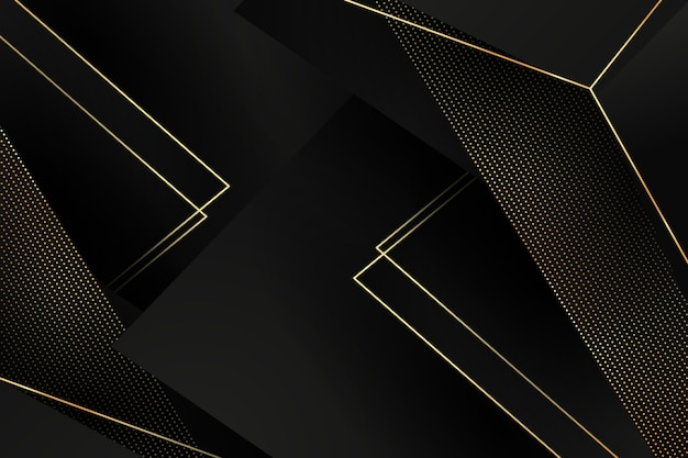 Sfondo di strati di carta scura con dettagli dorati
