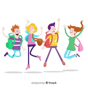 Sfondo di studenti felici