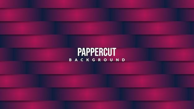 Sfondo di taglio carta creativa con colore viola intenso