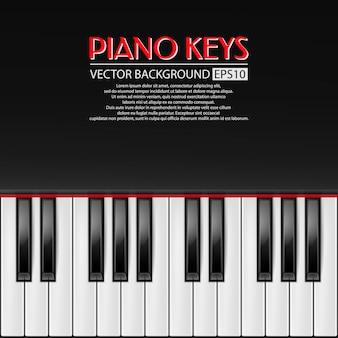 Sfondo di tasti di pianoforte