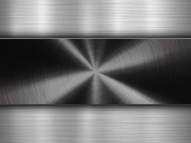 Sfondo di tecnologia con circolare in metallo spazzolato strutturato