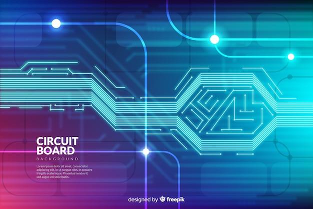 Sfondo di tecnologia con circuito stampato